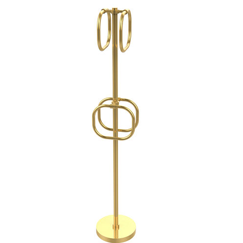 Allied Brass Waverly Place Collection 18 Inch Towel Bar With Integrated Hooks