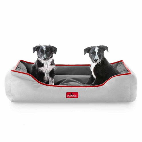 Brindle Reversible Color Waterproof Bolster Dog Bed
