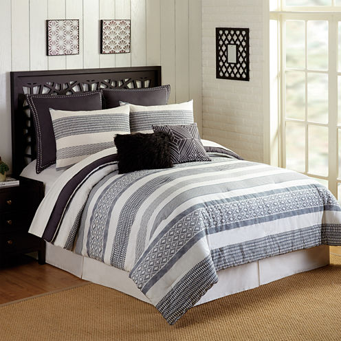 Presidio Square Deco Stripe 7-pc. Comforter Set