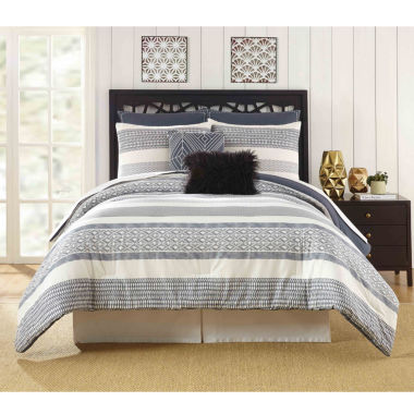 Presidio Square Deco Stripe 7-pc. Comforter Set