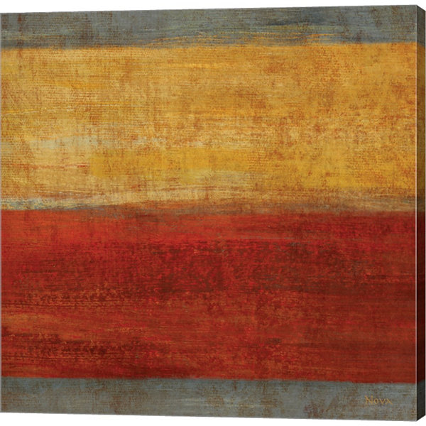 Abstract Stripe Square II Gallery Wrapped Canvas Wall Art On Deep Stretch Bars