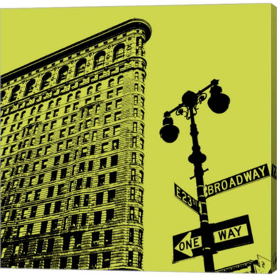 Acid Flatiron Gallery Wrapped Canvas Wall Art On Deep Stretch Bars