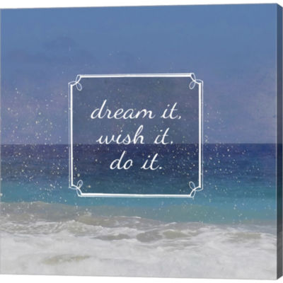 Beachsay 2 Gallery Wrapped Canvas Wall Art On DeepStretch Bars