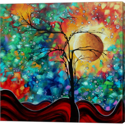 Metaverse Art Bursting Forth Gallery Wrapped Canvas Wall Art