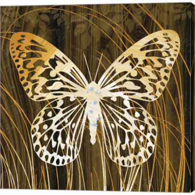 Metaverse Art Butterflies & Leaves II Gallery Wrapped Canvas Wall Art