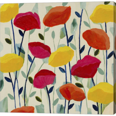 Metaverse Art Cheerful Poppies Gallery Wrapped Canvas Wall Art