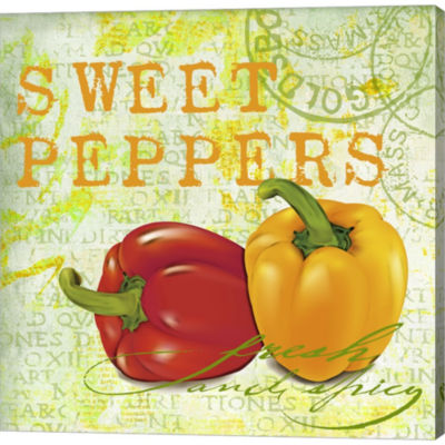 Farmer's Market Sweet Pepper Gallery Wrapped Canvas Wall Art On Deep Stretch Bars