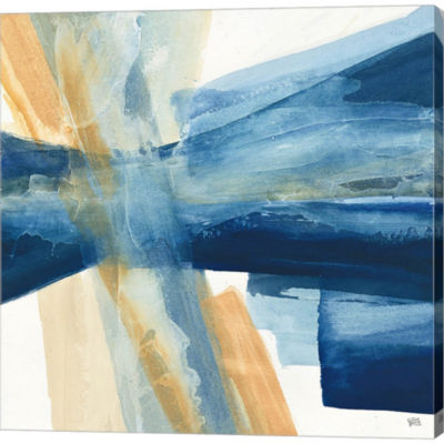 Metaverse Art Indigo II Gallery Wrapped Canvas Wall Art