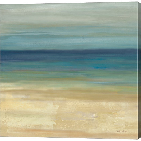 Metaverse Art Navy Blue Horizons I Gallery WrappedCanvas Wall Art