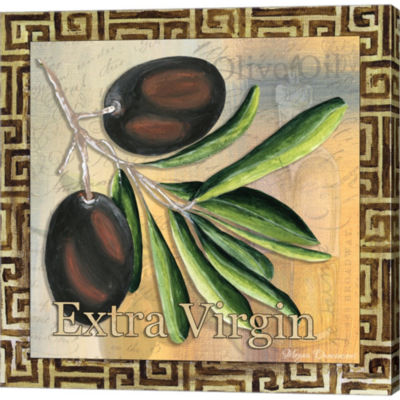 Metaverse Art Olive Oil 3 Gallery Wrapped Canvas Wall Art