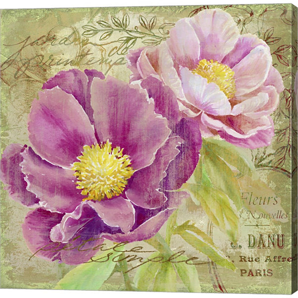 Metaverse Art Peony Garden II Gallery Wrapped Canvas Wall Art