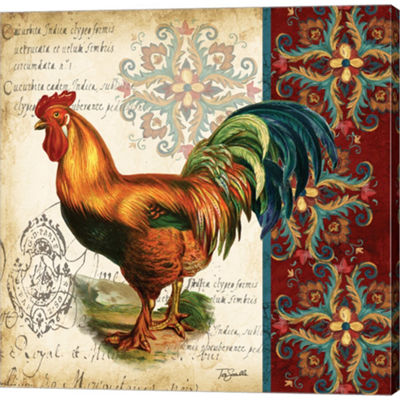 Metaverse Art Suzani Rooster II Gallery Wrapped Canvas Wall Art