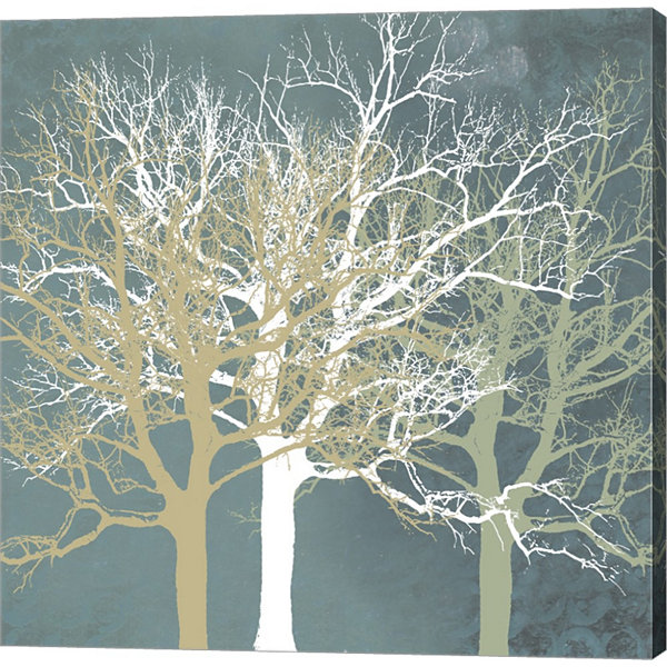 Metaverse Art Tranquil Trees Gallery Wrapped Canvas Wall Art