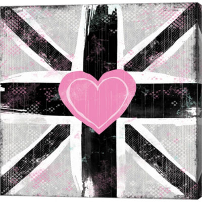 Metaverse Art Union Jack Heart I Gallery Wrapped Canvas Wall Art