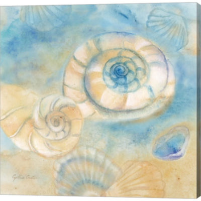Metaverse Art Watercolor Shells I Gallery WrappedCanvas Wall Art