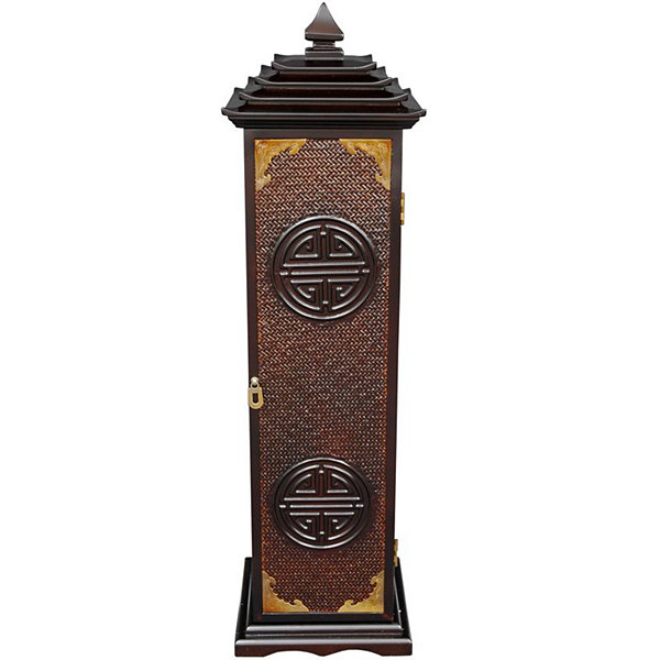 Oriental Furniture Rosewood Pagoda Media Tower