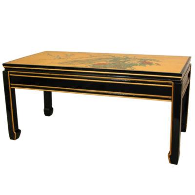 Oriental Furniture Gold Leaf Coffee Table