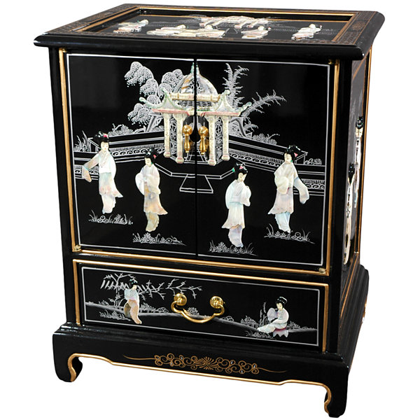 Black Lacquer 1-Drawer End Table