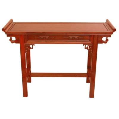Oriental Furniture Rosewood Qing Hall Console Table