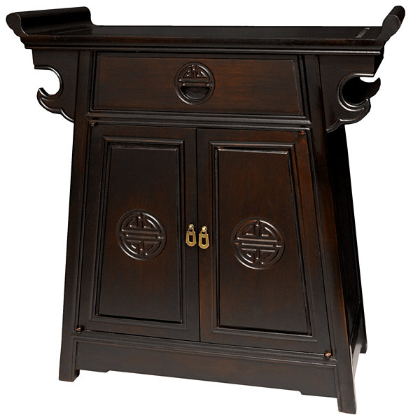 Rosewood Altar Accent Cabinet