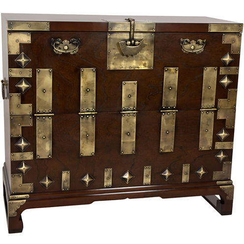 Oriental Furniture Korean Bandaji Antique Accent Chest