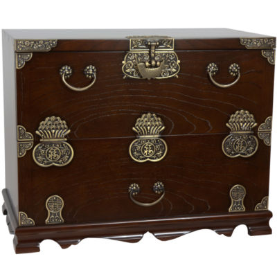 Oriental Furniture Korean Bandaji Antique Accent Chest