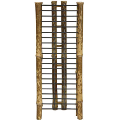 Oriental Furniture Japanse Bamboo Vertical Media Tower
