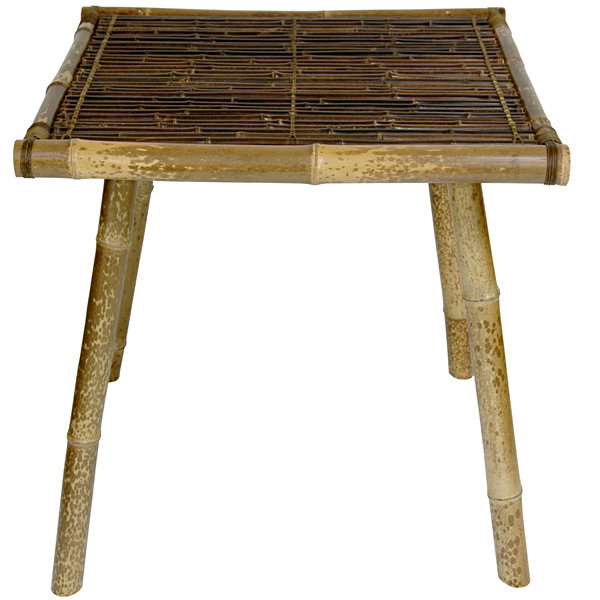 Japanese Bamboo End Table
