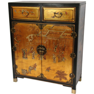Oriental Furniture Luxuriant Accent Cabinet
