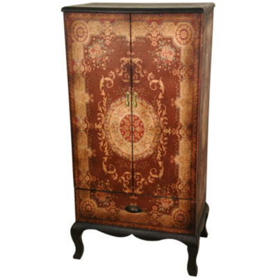 Oriental Furniture Olde-Worlde Accent Cabinet
