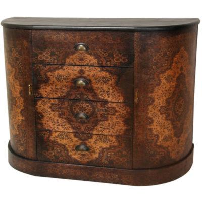 Oriental Furniture Olde-Worlde European Accent Cabinet
