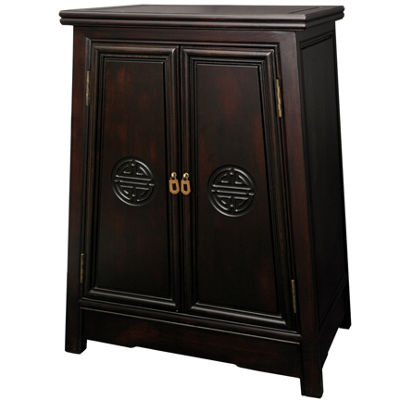 Oriental Furniture Rosewood Brown Long Life AccentCabinet