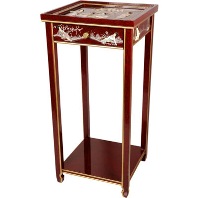 Mother Of Pearl Ladies Oriental Chairside Table