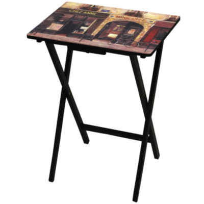 Oriental Furniture Parisian Café TV Tray Table