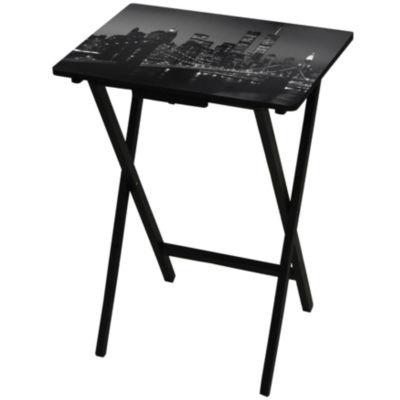 Oriental Furniture Brookly Bridge TV Tray Table