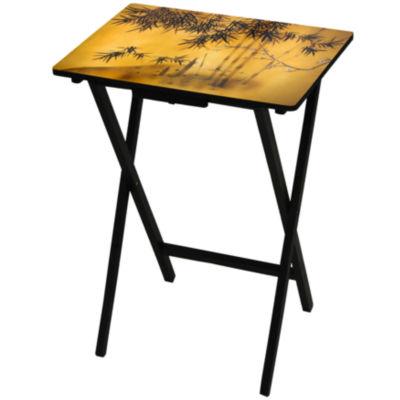 Bamboo Tree TV Tray Table