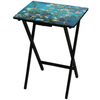 Oriental Furniture Van Gogh Almond Blossoms TV Tray Table