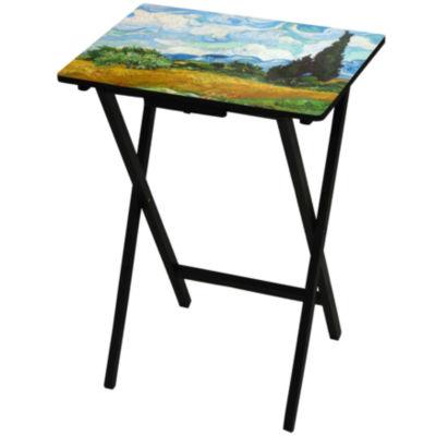 Van Gogh Wheat Fields TV Tray Table