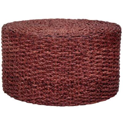 Oriental Furniture Rush Grass Knotwork Coffee Table