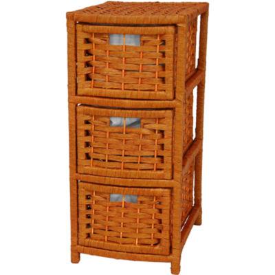 """Oriental Furniture 25"""" Natural Fiber Occasional Accent Chest"""