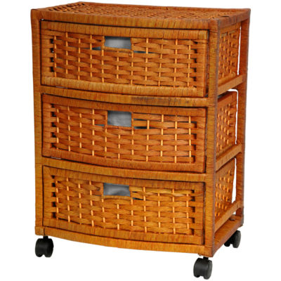"Oriental Furniture 23"" Natural Fiber Accent Chest"""