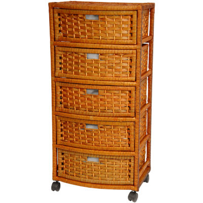 """Oriental Furniture 37"""" Natural Fiber Accent Chest"""""""