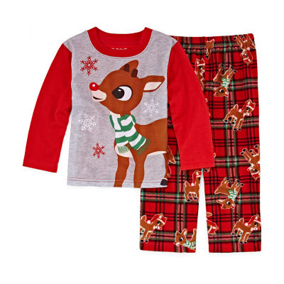 RUDOLPH THE RED NOSE REINDEER 2 PIECE PAJAMA SET - UNISEX KID'S