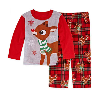 Rudolph The Red Nose Reindeer 2 Piece Pajama Set- Unisex Kid's