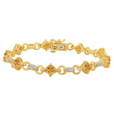 Genuine Yellow Citrine 7.5 Inch Tennis Bracelet