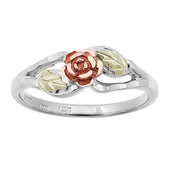 Landstroms Black Hills Gold Womens Sterling Silver Cocktail Ring
