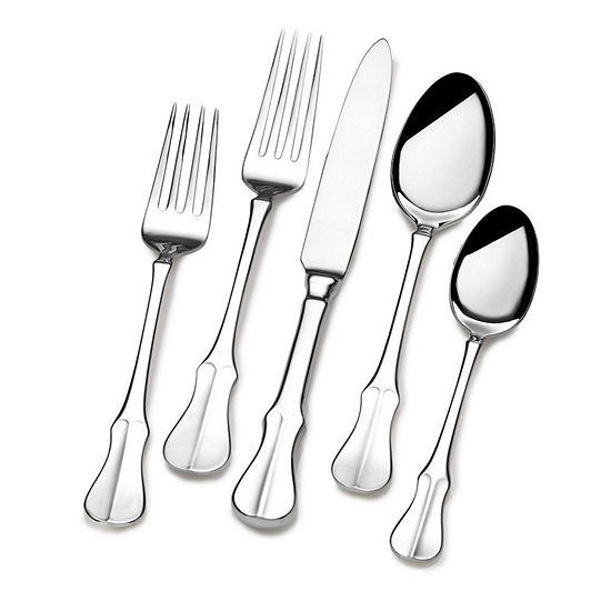 Wallace International 65 Pc 18 10 Stainless Steel Flatware Set