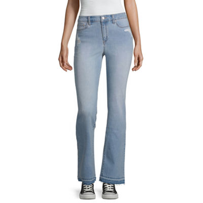 Black Daisy Womens High Waisted Original Fit Bootcut Jean-Juniors