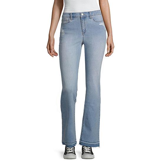 Black Daisy Womens High Waisted Original Fit Bootcut Jean-Juniors