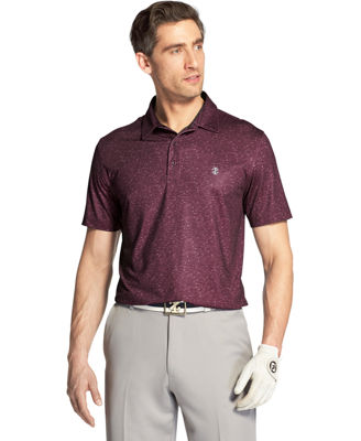 IZOD Short Sleeve Dots Knit Polo Shirt